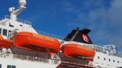 Die MS Polarlys im Hafen von Hammerfest