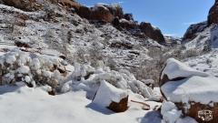 Beim Grandstaff Trailhead mit Blick in den Negro Canyon