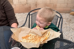 Eine leckere Quesadilla in Moab Downtown