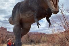 Ein T-Rex im Dino Park Moab Giants